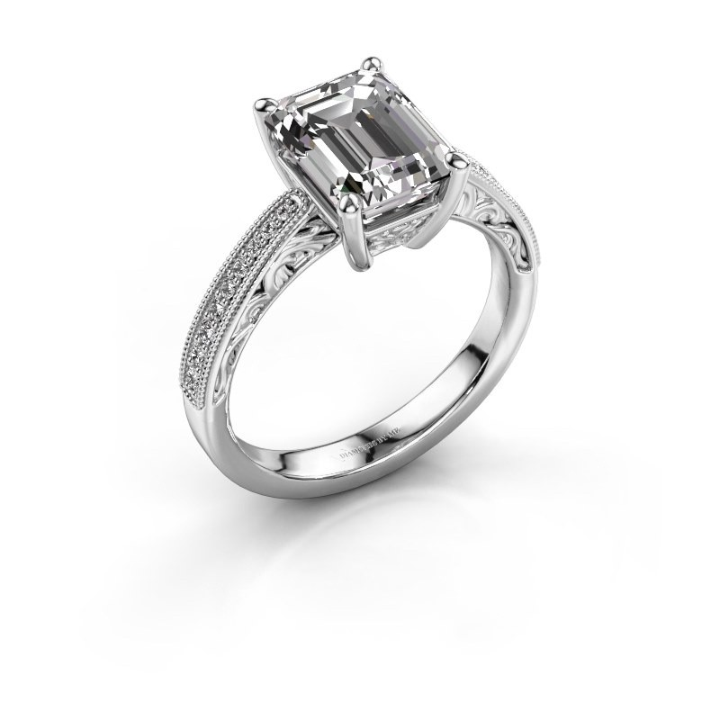 Engagement ring Shonta EME 950 platinum diamond 1.28 crt