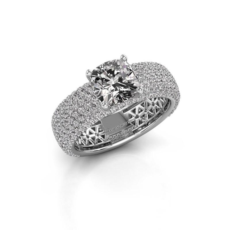 Verlovings ring Darcy 950 platina diamant 4.07 crt