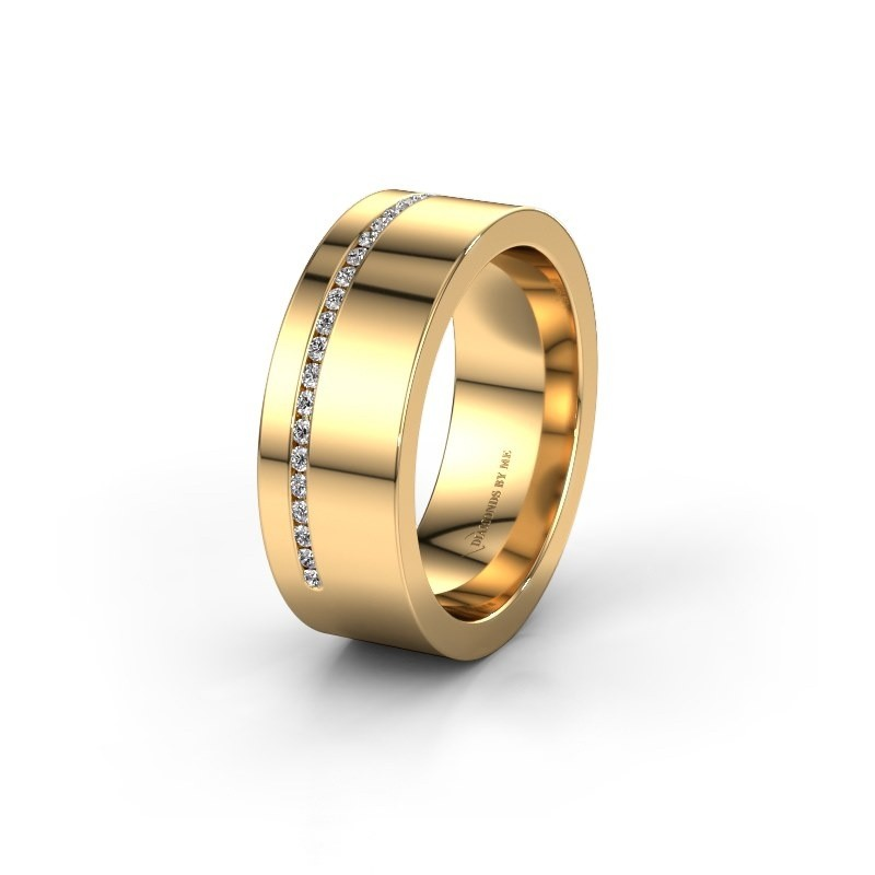 Trouwring WH0143L17BP 585 goud lab-grown diamant ±7x2 mm