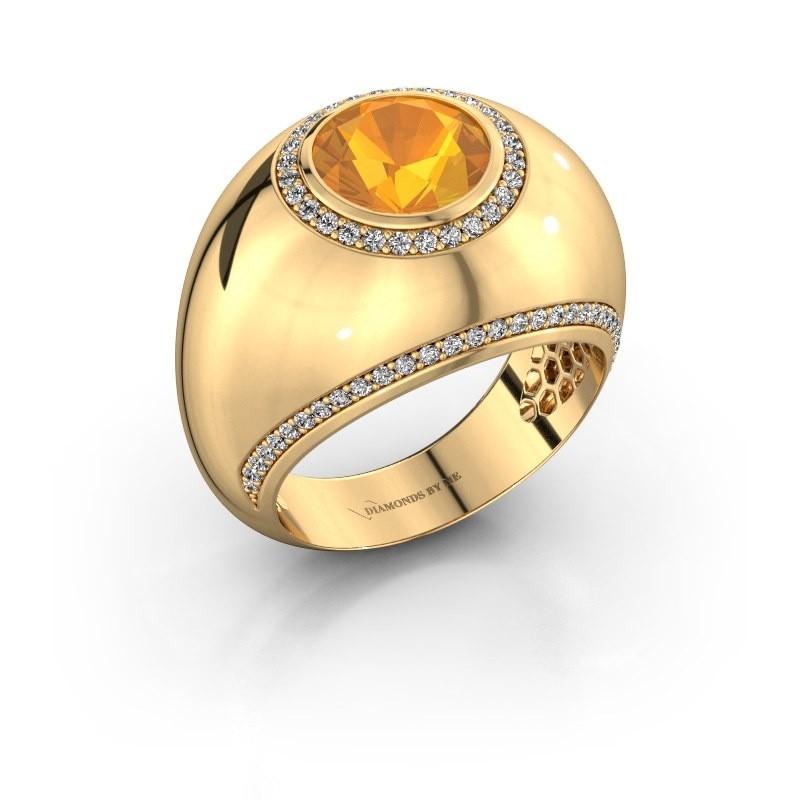 Ring Roxann 375 goud citrien 8 mm