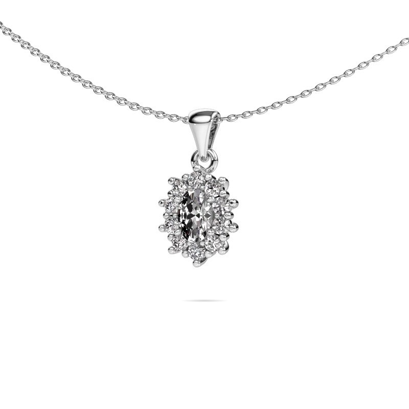 Ketting Leesa 585 witgoud lab-grown diamant 1.60 crt
