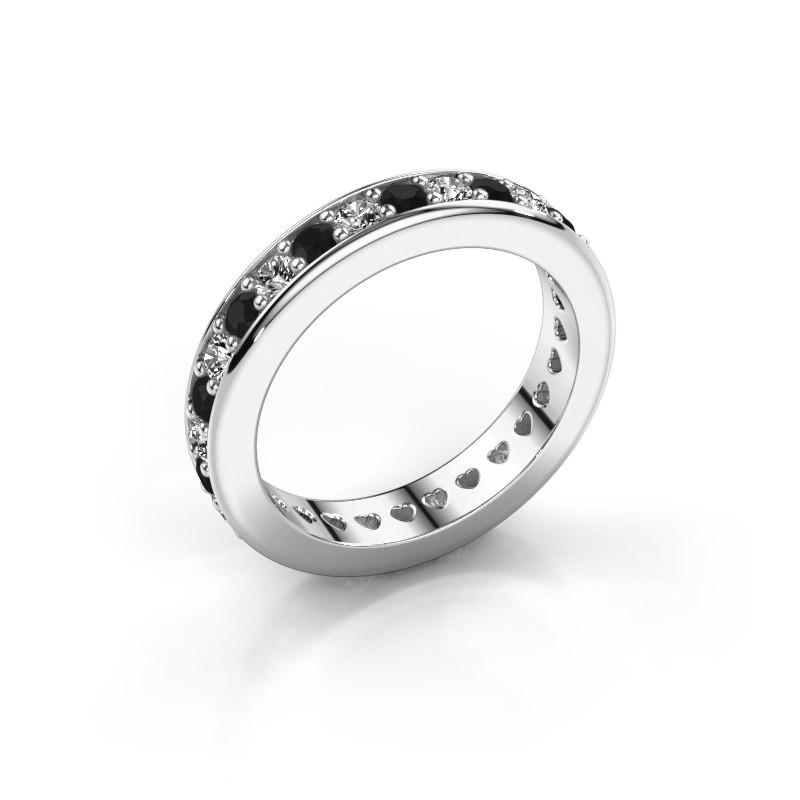 Aanschuifring Nienke 585 witgoud zwarte diamant 1.386 crt