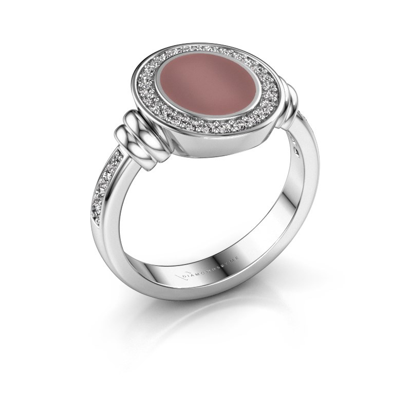 Signet ring Bailey 925 silver carnelian 10x8 mm