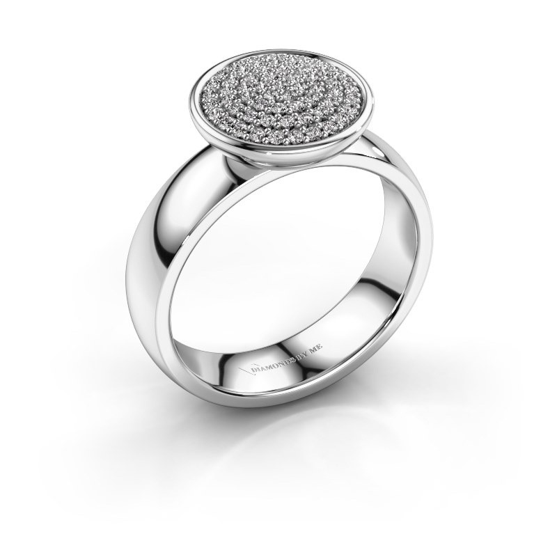 Ring Tilda 950 platina zirkonia 1 mm