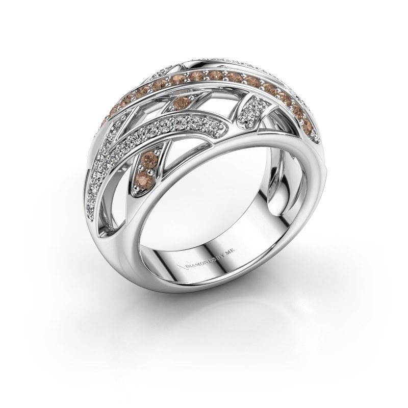 Ring Yinthe 585 white gold brown diamond 0.60 crt