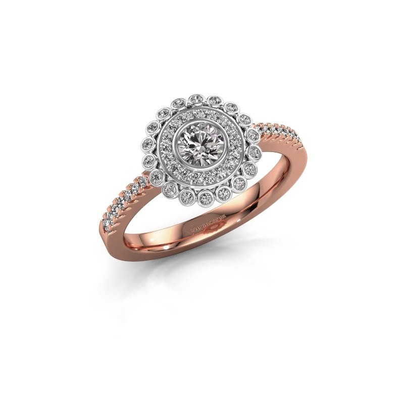 Engagement ring Shanelle 585 rose gold lab grown diamond 0.25 crt