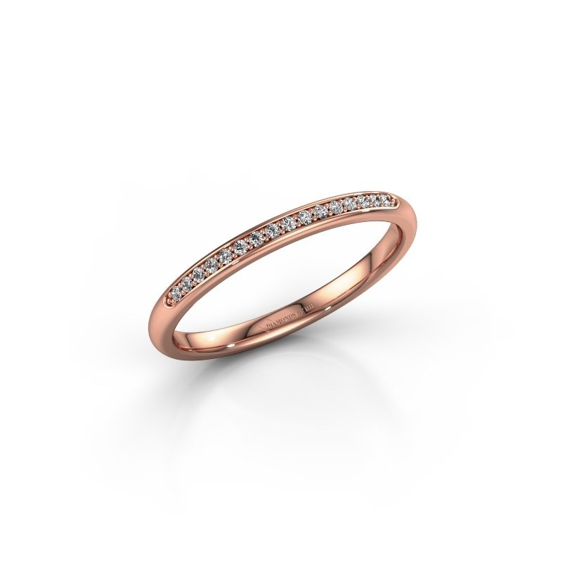 Stackable ring SR20B2H 375 rose gold lab grown diamond 0.08 crt