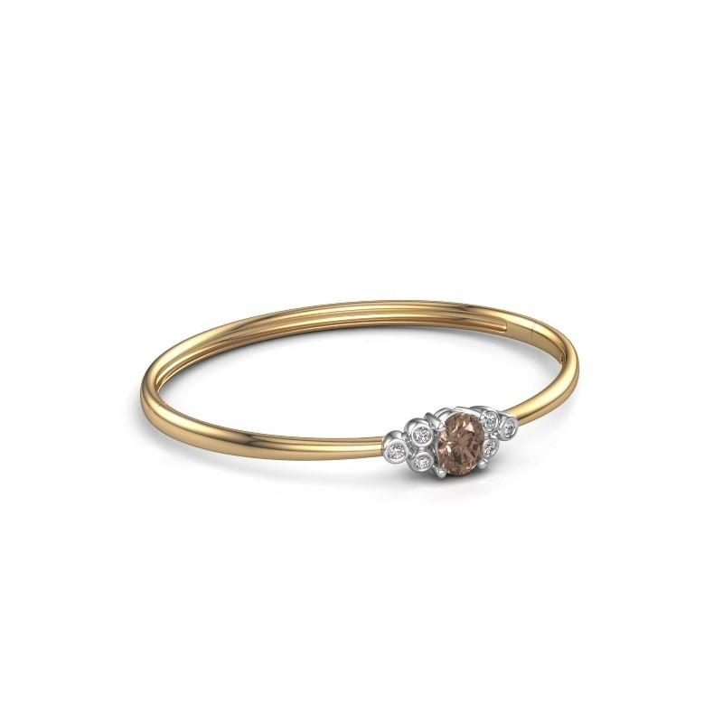 Bangle Lucy 585 gold brown diamond 1 27 crt