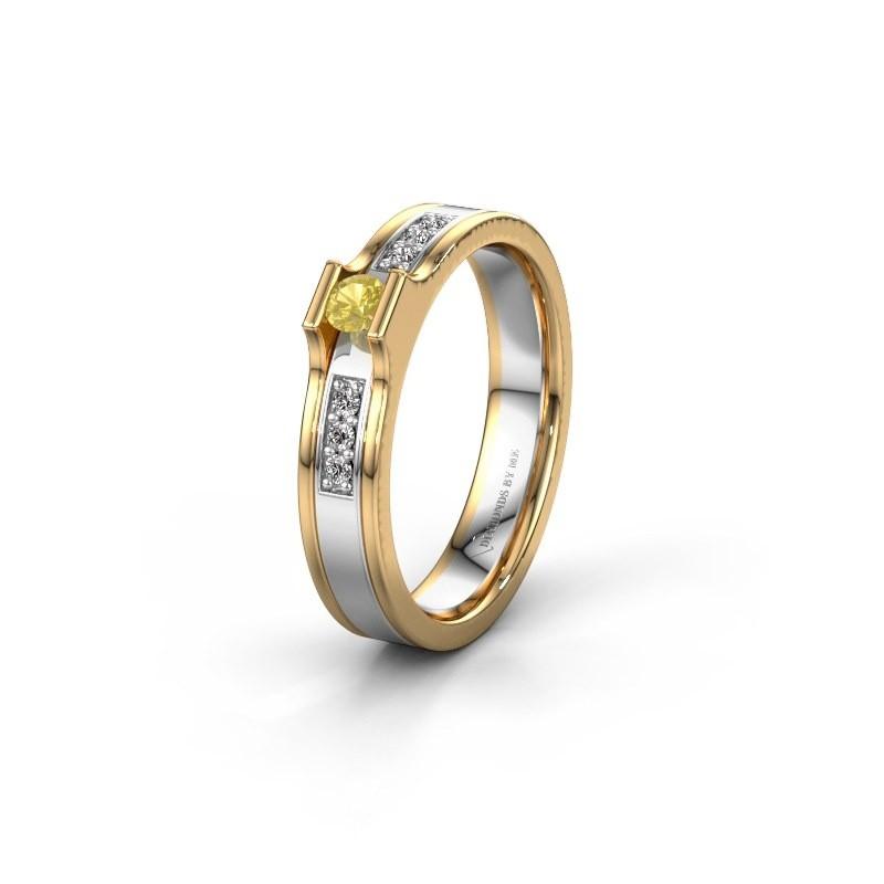 Ehering WH2110L14A 585 Weißgold Gelb Saphir ±4x1.7 mm