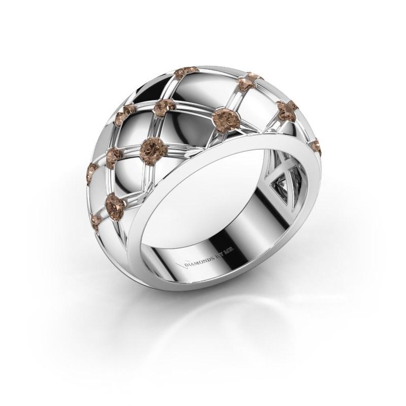 Ring Imke 585 white gold brown diamond 0.78 crt