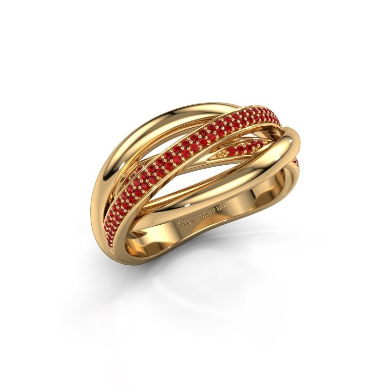 Ring Candice 375 goud robijn 0.8 mm