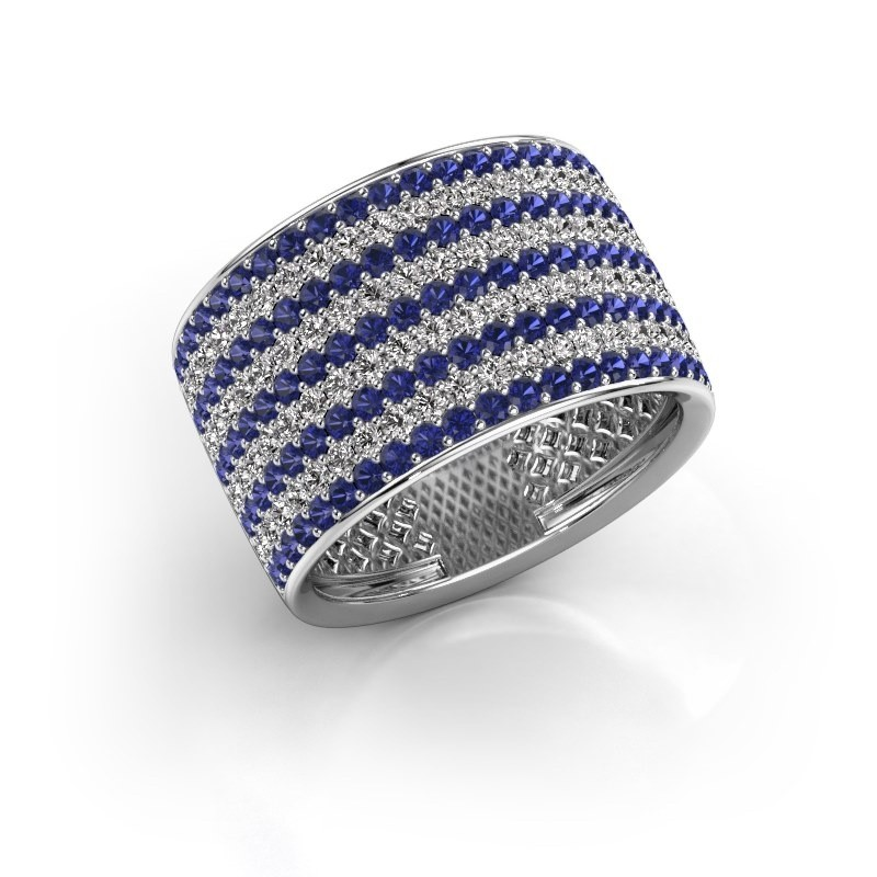 Ring Macy 925 zilver saffier 1.4 mm