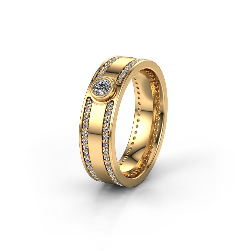 Trouwring WH2044P 375 goud diamant ±6x2 mm
