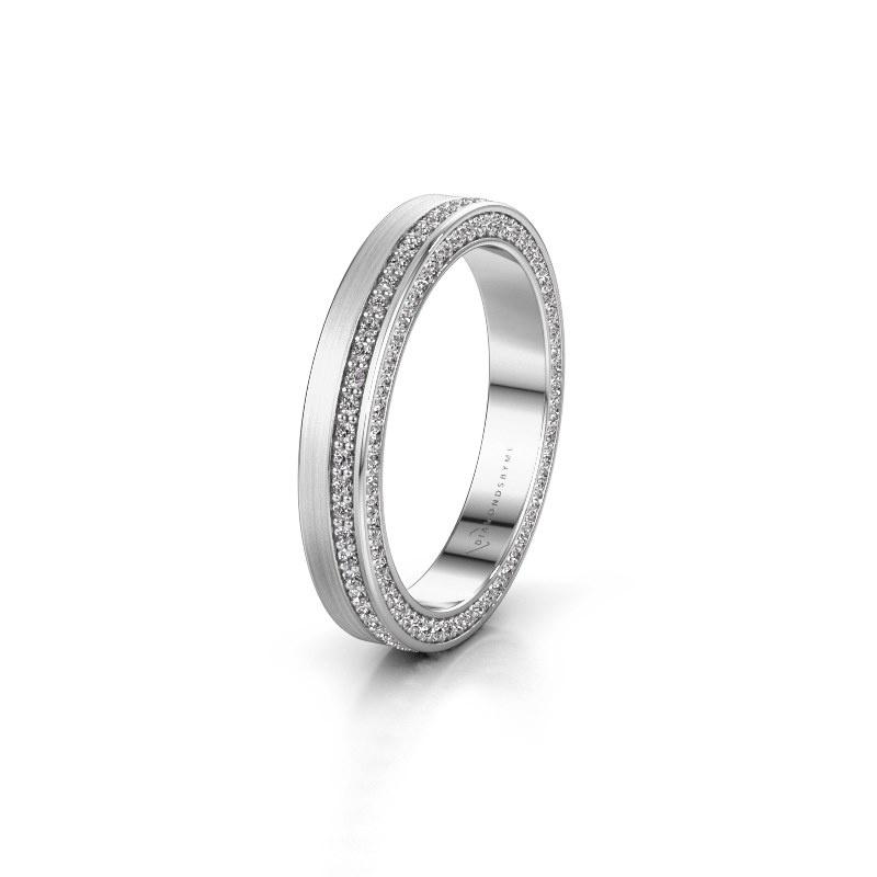 Trouwring WH2214L15BM 585 witgoud diamant 0.55 crt ±3,5x2 mm
