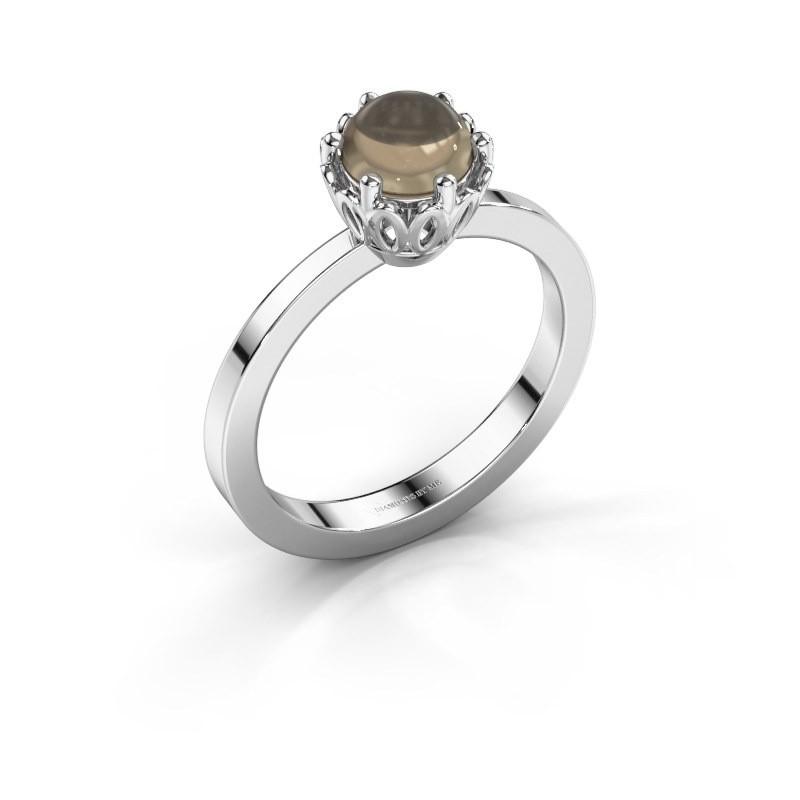 Ring Marly 950 platina rookkwarts 6 mm