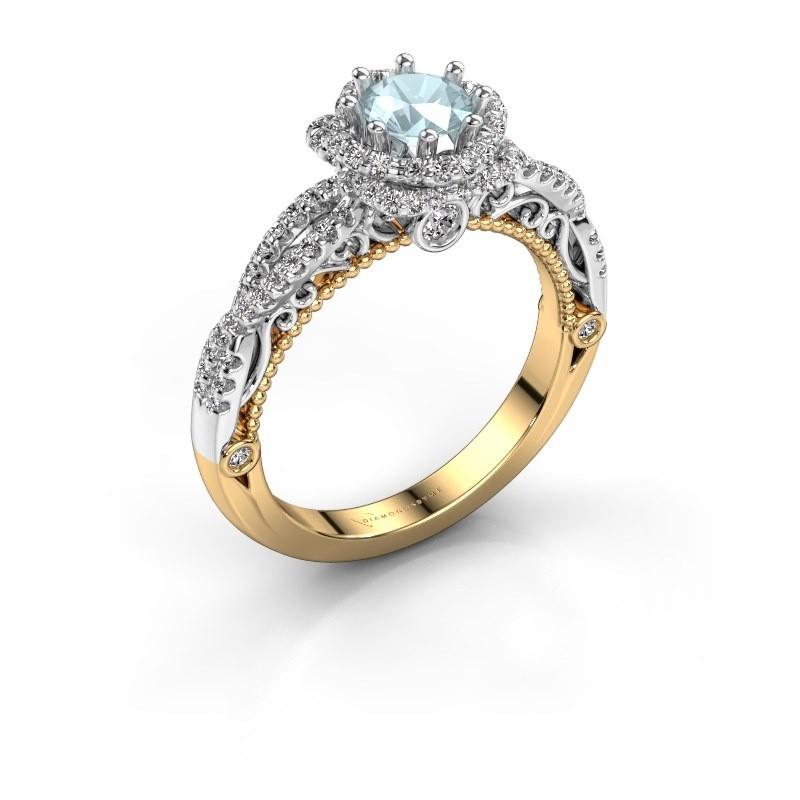 Engagement ring Lysanne 585 gold aquamarine 5 mm