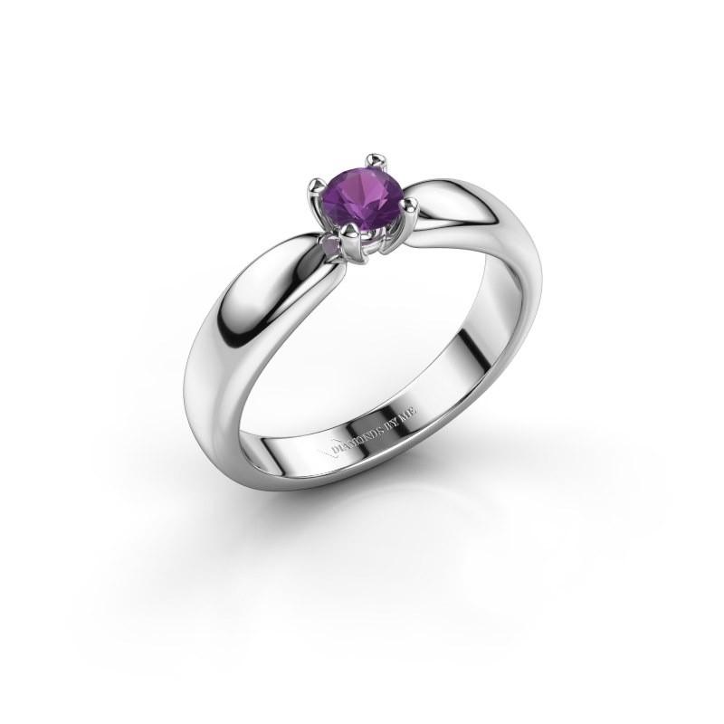 Promise ring Katrijn 950 platina amethist 4.2 mm
