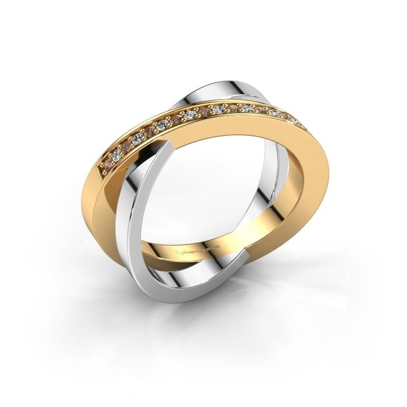 Ring Julie 585 goud bruine diamant 0.143 crt