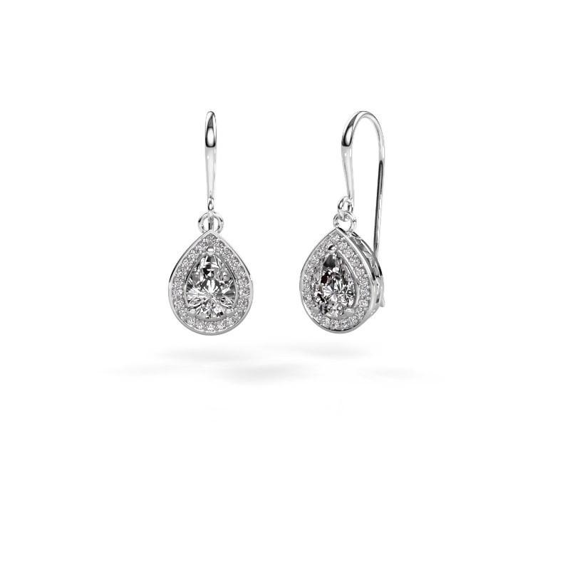 Drop earrings Beverlee 1 950 platinum zirconia 7x5 mm