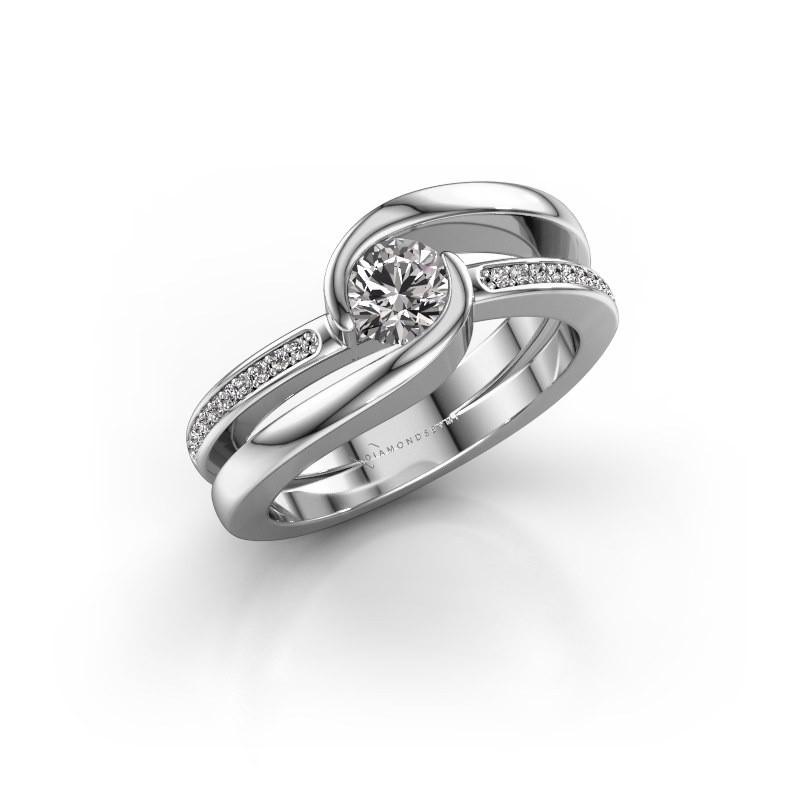 Ring Xenia 2 375 witgoud lab-grown diamant 0.60 crt