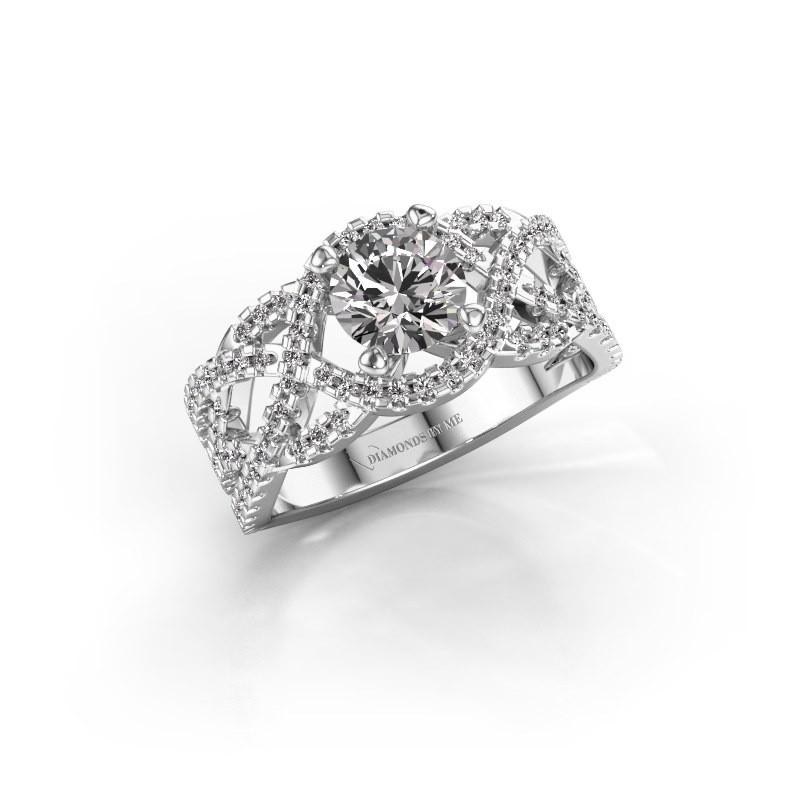 Verlovingsring Jeni 585 witgoud lab-grown diamant 1.523 crt