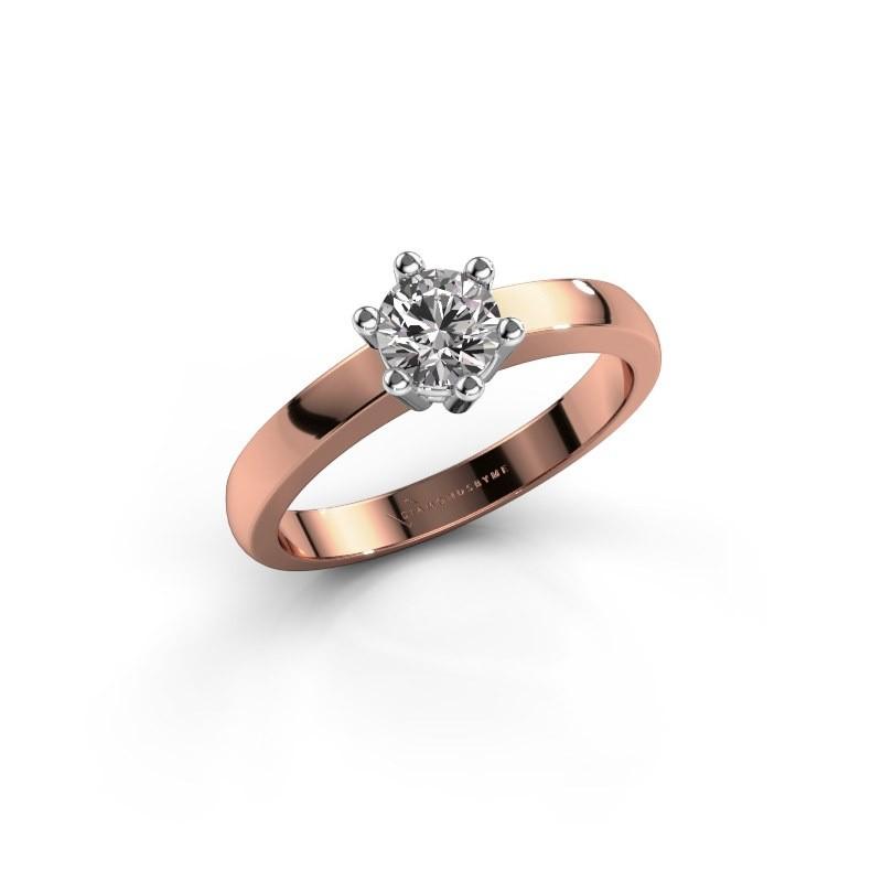 Verlovingsring Luna 1 585 rosé goud diamant 0.40 crt