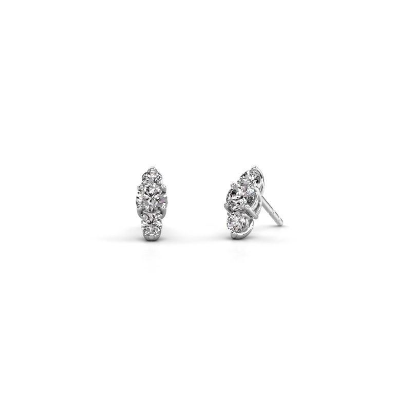 Oorbellen Amie 585 witgoud diamant 1.20 crt