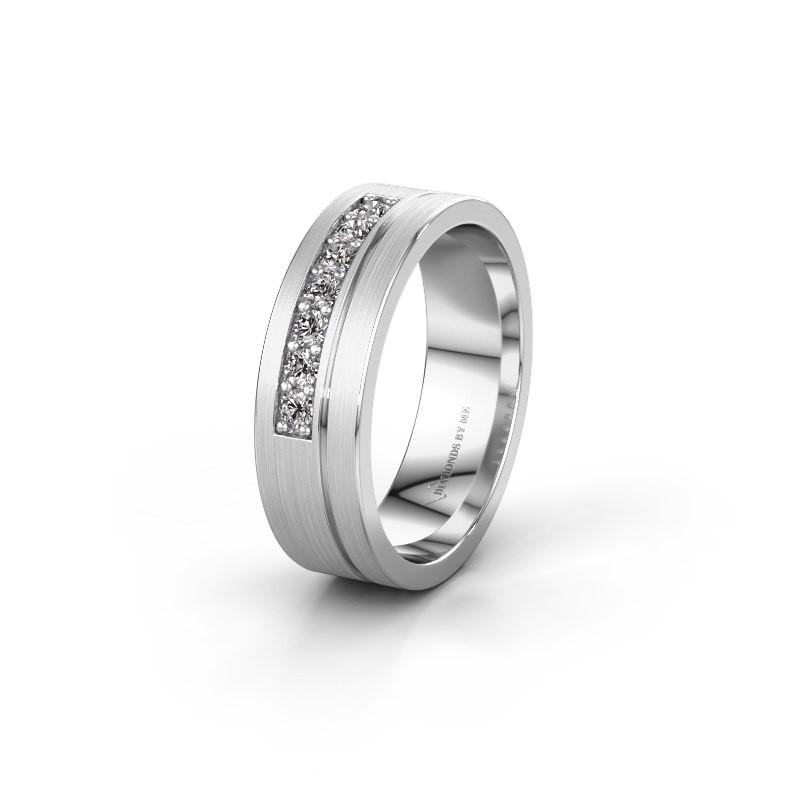 Trouwring WH0312L16AM 925 zilver lab-grown diamant ±6x1.7 mm