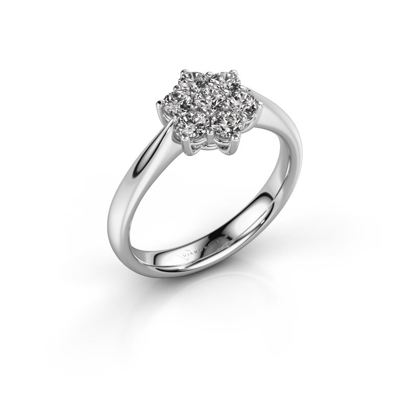 Promise ring Chantal 1 585 witgoud diamant 0.15 crt