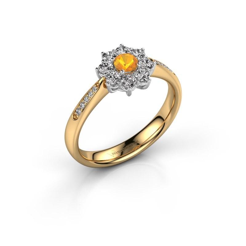 Verlovingsring Carolyn 2 585 goud citrien 3.4 mm