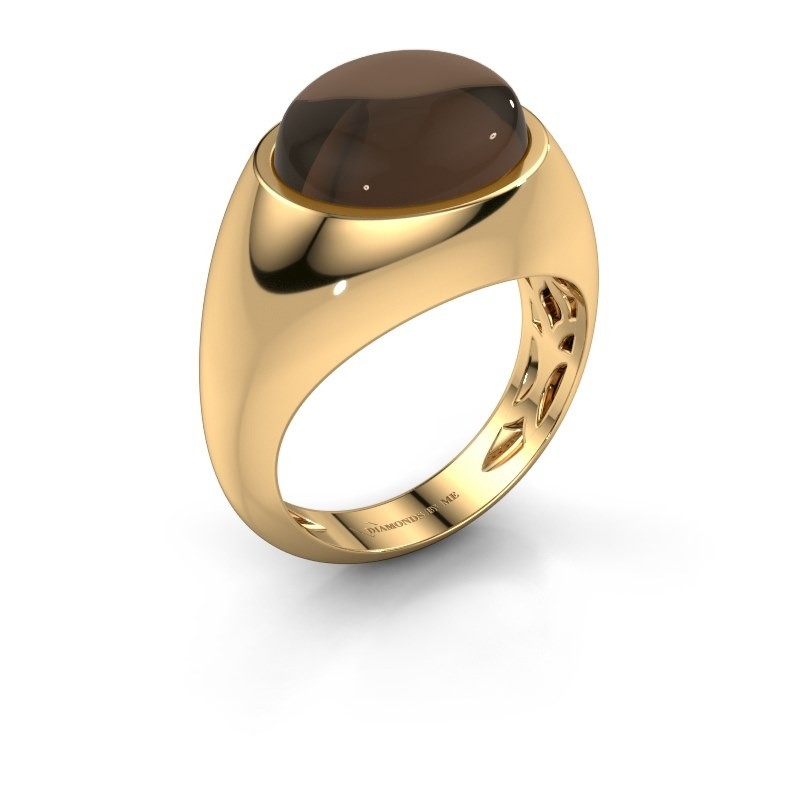 Ring Laurien 585 goud rookkwarts 12x10 mm
