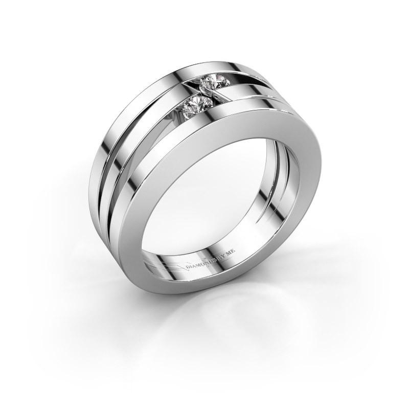 Ring Valerie 925 zilver diamant 0.16 crt
