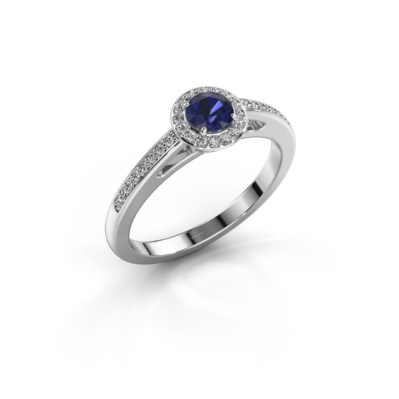 Engagement ring Aaf 950 platinum sapphire 4.2 mm