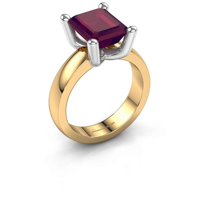 Ring Clelia EME 585 Gold Rhodolit 10x8 mm