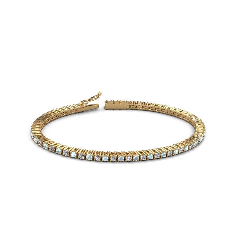 Tennisarmband Karin 2.4 mm 375 goud aquamarijn 2.4 mm