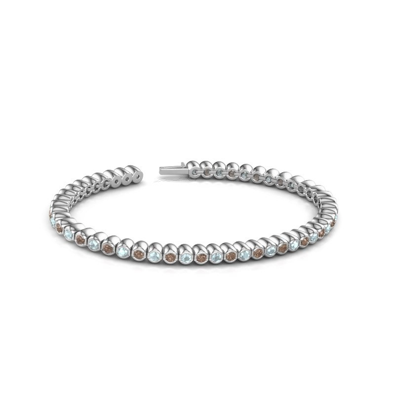 Tennisarmband Patrica 585 witgoud bruine diamant 2.75 crt