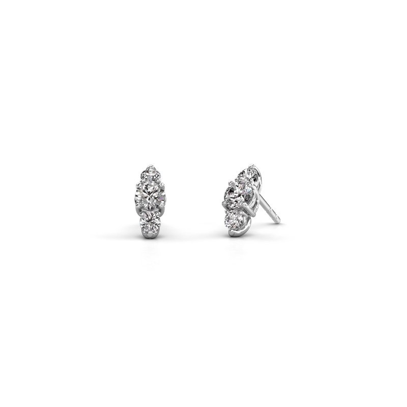 Oorbellen Amie 950 platina diamant 1.20 crt