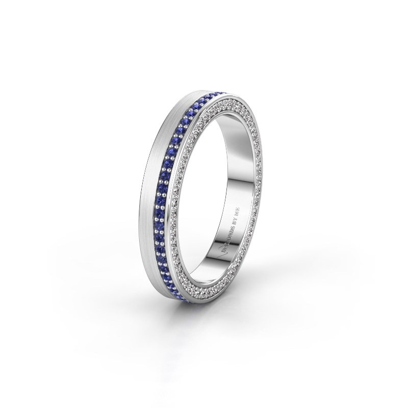 Wedding ring WH2214L15BM 925 silver sapphire 1 mm ±5x2 mm