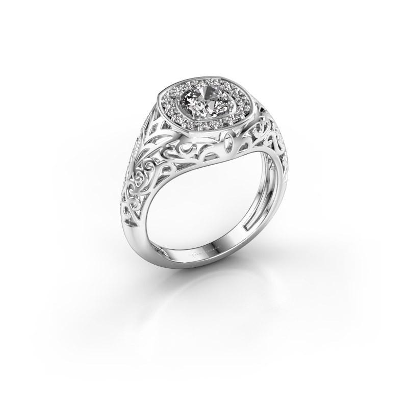 Herrenring Quinten 375 Weißgold Diamant 0.66 crt