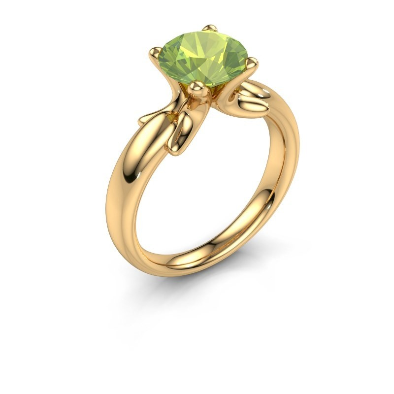 Ring Jodie 585 gold peridot 8 mm
