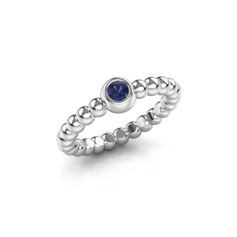 Stackable ring Dini 585 white gold sapphire 3 mm