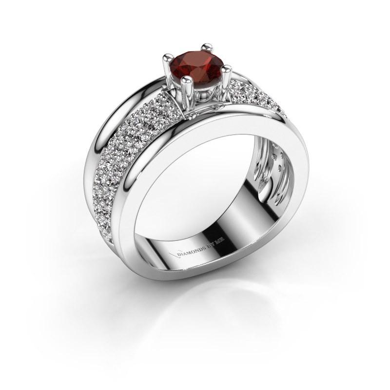 Ring Alicia 925 Silber Granat 5 mm
