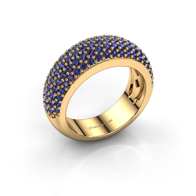 Ring Cristy 375 gold sapphire 1.2 mm