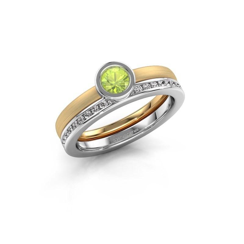 Ring Cara 585 gold peridot 4 mm