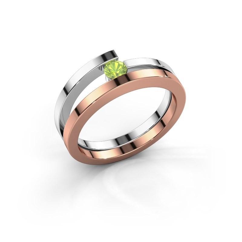 Ring Sandy 585 rosé goud peridoot 3.4 mm