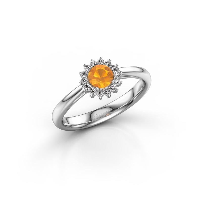 Engagement ring Tilly RND 1 925 silver citrin 4.2 mm