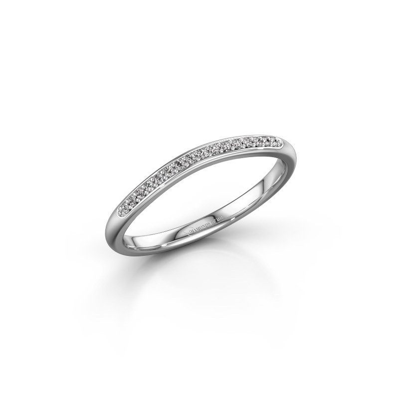 Ring SR20A2H 585 witgoud diamant 0.08 crt