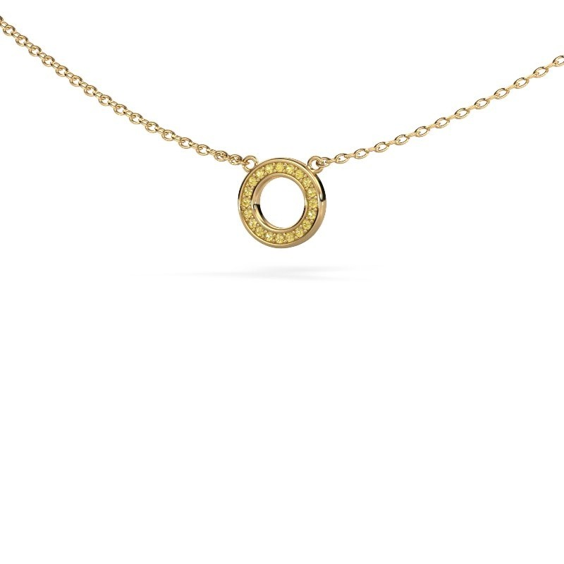 Hanger Round 2 375 goud gele saffier 0.8 mm