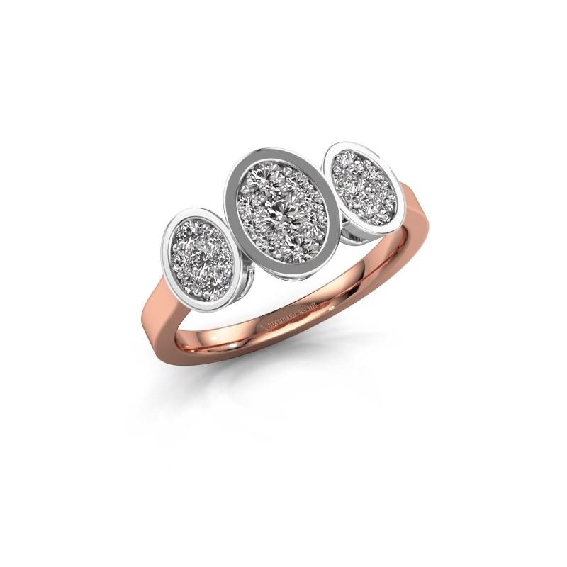 Verlovingsring Karleen 585 rosé goud diamant 0.596 crt