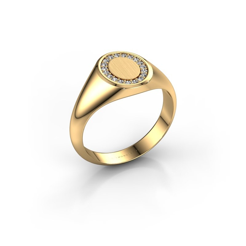 Pinkring Floris Oval 1 585 goud lab-grown diamant 0.143 crt